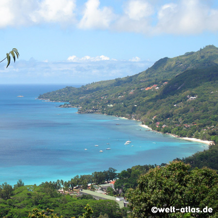 Bucht von Beau Vallon, Mahé, Seychellen