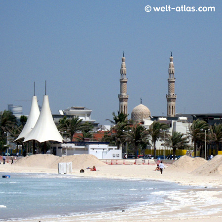 Jumeirah Beach, mosque, Dubai, UAE