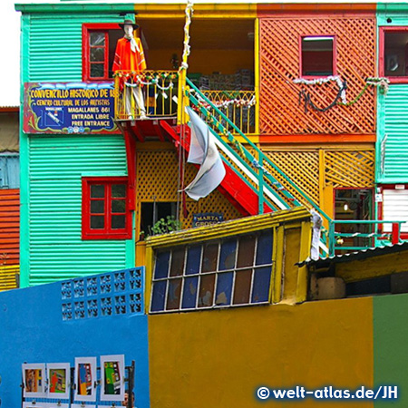 Buenos Aires, La Boca - colorful houses, Argentina South America