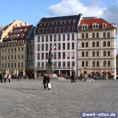The Dresden Neumarkt with statue of Martin Luther