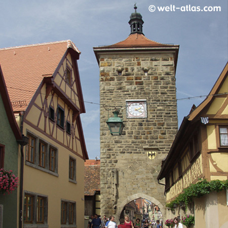 Rothenburg o. d.Tauber, Siebersturm, gate and tower