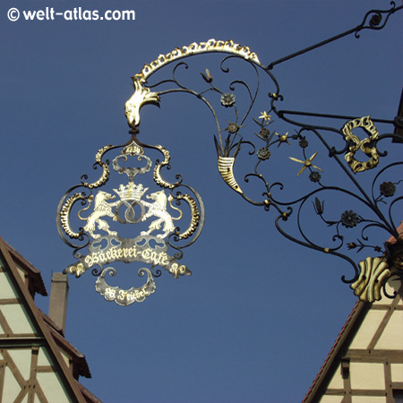 Rothenburg o. d. Tauber, old Café and bakery