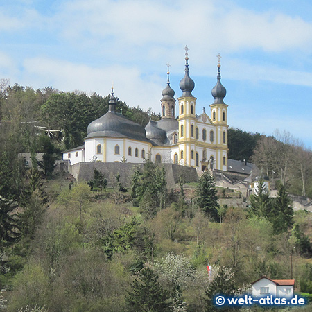 """The Pilgrimage Church """"Käppele"""" is one of the sights of Würzburg"""