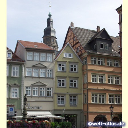 foto coburger marktplatz mit brunnen welt. Black Bedroom Furniture Sets. Home Design Ideas