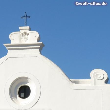 Detail der Seefahrerkirche Santa Maria del Soccorso in Forio, Wahrzeichen des Ortes