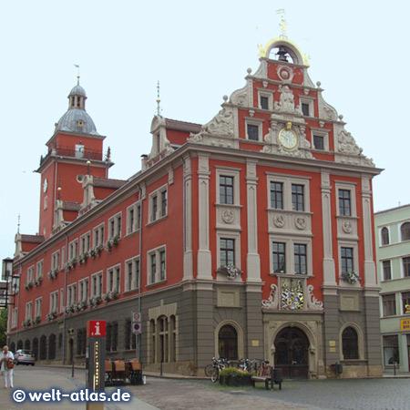 Renaissancefassade des Rathauses in Gotha