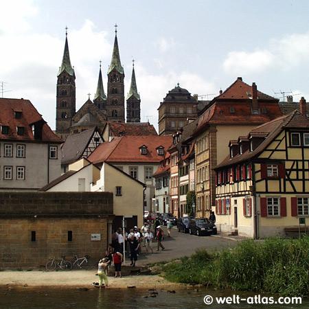 in Bamberg an der Regnitz mit dem Bamberger Dom