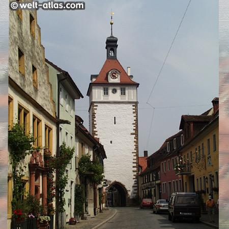 Prichsenstadt, Stadtturm mit Tor, Franken