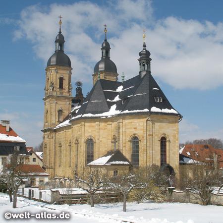 Die Basilika in Gößweinstein ist bedeutendste Kirche der Fränkischen Schweiz. Wallfahrtskirche zur hl. Dreifaltigkeit