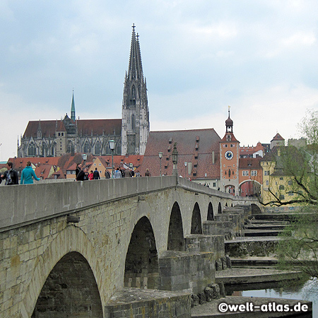 Stone Bridge and Regensburg Cathedral, UNESCO World Heritage Site