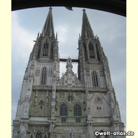The Regensburg Cathedral, landmark of the city