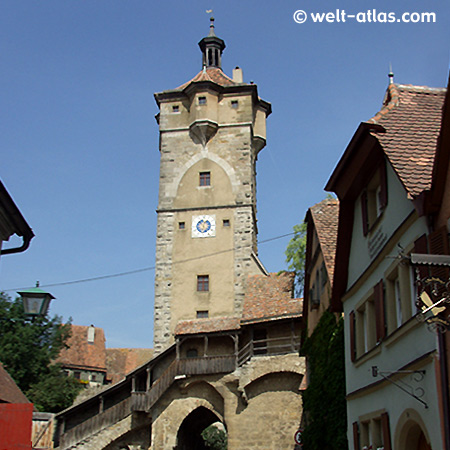 Rothenburg ob der Tauber, Spitalbastei - medieval old town in Middle Franconia