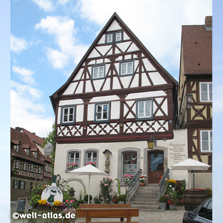 Zeil am Main in Lower Franconia, a town with old churches and romantic houses