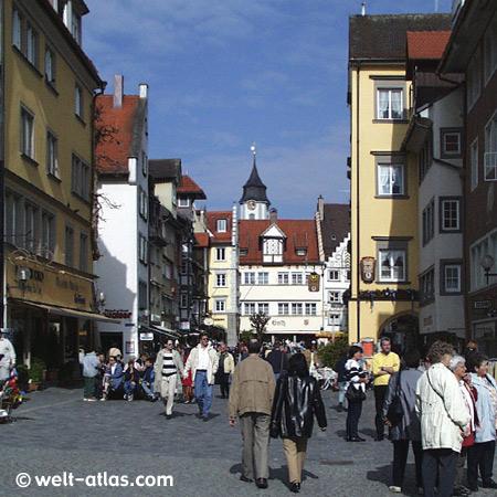 Lindau, Bodensee, historisches Stadtzentrum