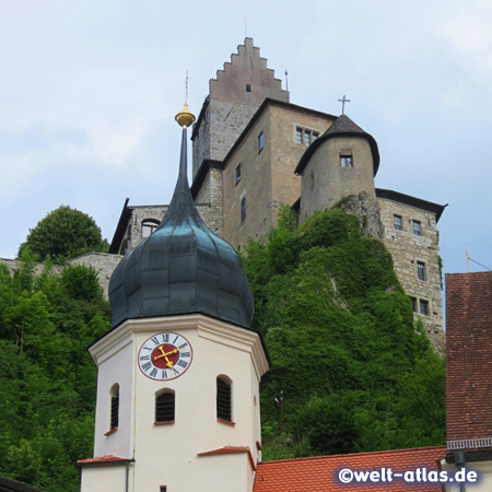 ipfenberg, medieval castle and church, Altmuehl Valley