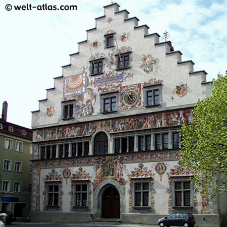 The reverse side of the old town hall of Lindau