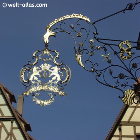 Rothenburg o. d. Tauber, altes Café