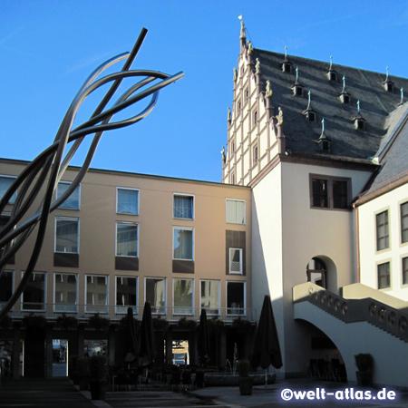 Renaissance-Rathaus von Schweinfurt, 1570-72 erbaut von Nikolaus Hofmann