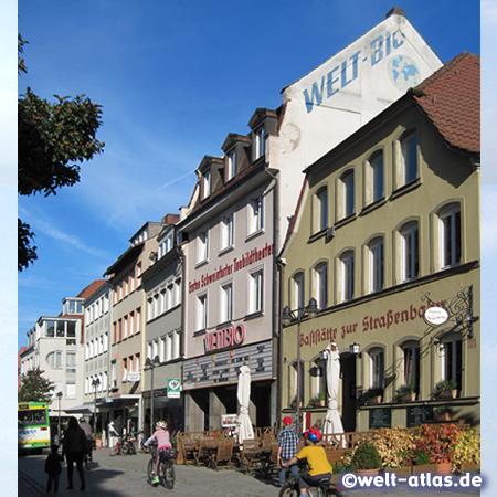 Häuserzeile in der Rückertstraße in in Schweinfurt
