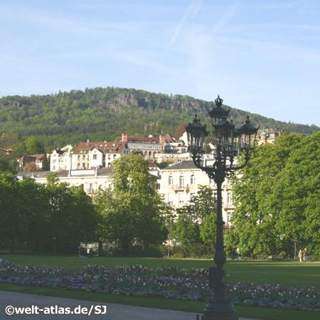 Blick vom Kurpark auf Baden-Baden