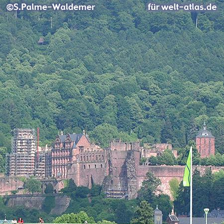 Heidelberger Schloss, Wahrzeichen der Stadt – Foto:© S. Palme-Waldemer