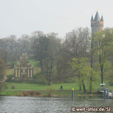 Flatowturm and Matrosenhaus, Babelsberg Park