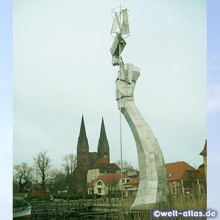 Sculpture Parzival at Lake Ruppin, Neuruppin