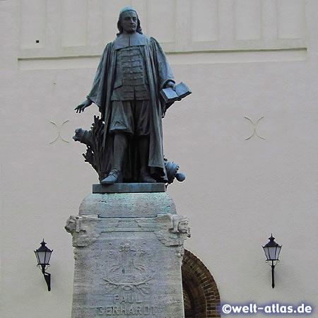 Paul Gerhardt Statue in Luebben, Spreewald