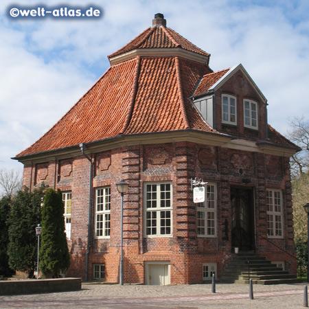 Trichter, historical building in Wilster, now italian restaurant