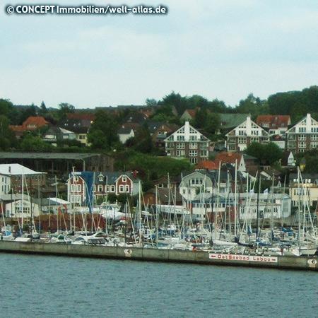 Hafen von Laboe am Ostufer der Kieler Förde