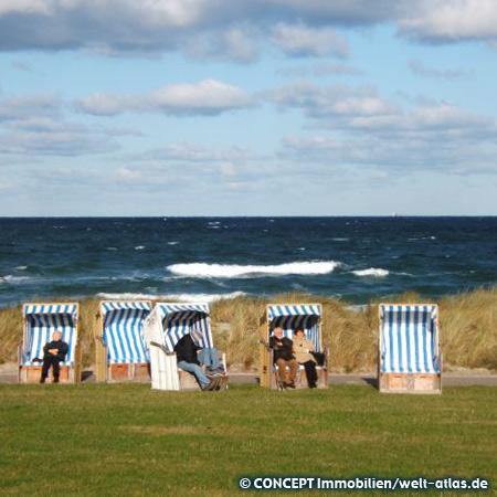 Windgeschützt im Strandkorb an der Ostsee