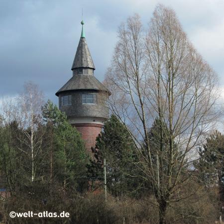 Ehemaliger Wasserturm Pinneberg, erbaut 1912 - Kulturdenkmal - heute in Prinatbesitz