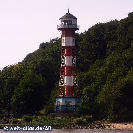 Lighthouse Wittenbergen, Falkensteiner Ufer, Elbe, Hamburg