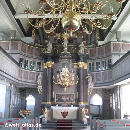 Inneres der Kirche zu St. Margarethen, Kreis Steinburg