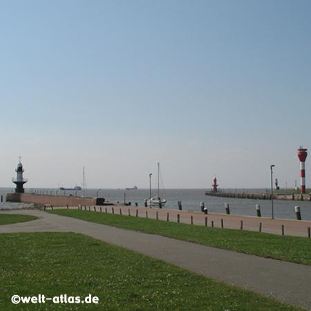 Befeuerung der Schleuseneinfahrt zum Nord-Ostsee-Kanal, Brunsbüttel