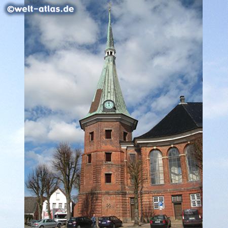St.-Bartholomäus-Kirche in Wilster, Baumeister war Sonnin, von dem auch der Hamburger Michel stammt