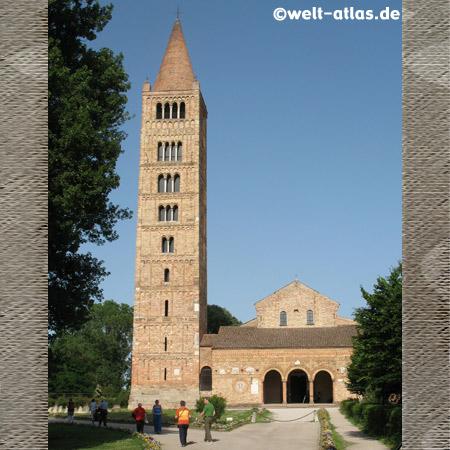 Abtei Pomposa, Campanile, Po-Delta, Provinz Ferrara, Emilia-Romagna, Italien