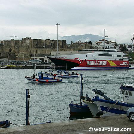 Tarifa, Hafen, Fähre nach Tanger