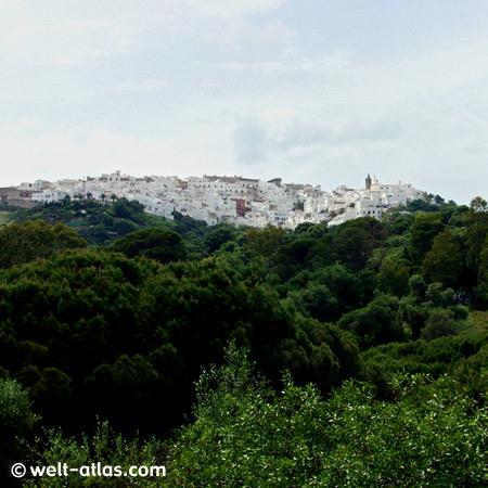 Blick auf Vejer de la Frontera