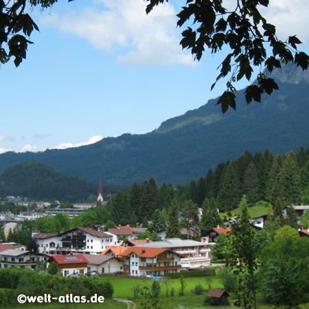 Blick auf Reutte in Tirol am Lech