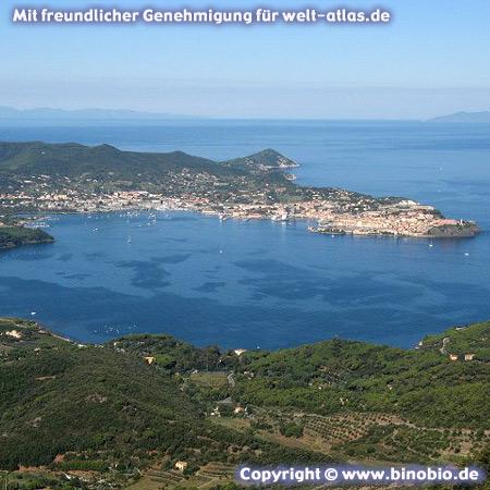 Portoferraio auf Elba - Urlaubsbericht: Wandern in der Toskana von Hans van Gelderen unter:http://elba.binobio.de/elba.htm