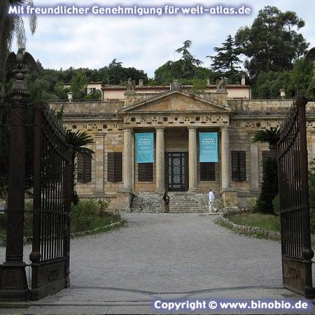 Napoleonisches Museum Villa San Martino auf Elba, Portoferraio  –Urlaubsbericht: Wandern in der Toskana von Hans van Gelderen unter:http://elba.binobio.de/elba.htm