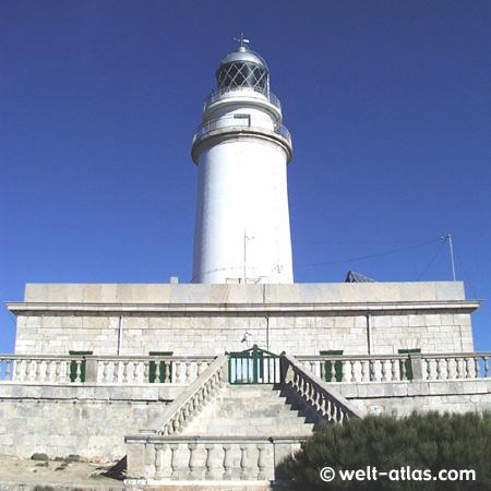 Leuchtturm am Cap de Formentor, Mallorca Position: 39° 58' N | 003° 13' E