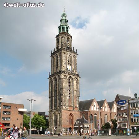 Foto Von Marktplatz Kirche Und Martiniturm Groningen