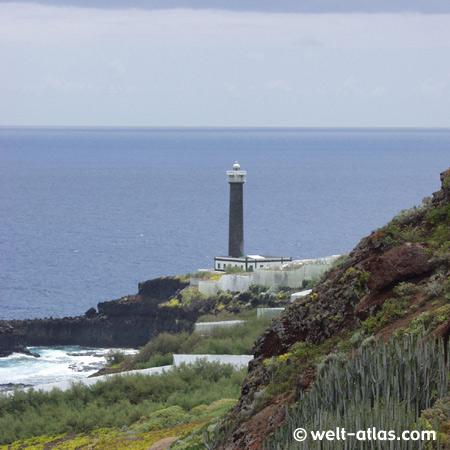 Leuchtturm, Punta Cumplida in Barlovento, La Palma, Kanarische Inseln