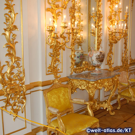 Great Hall inside the Catherine Palace in Pushkin near St. Petersburg