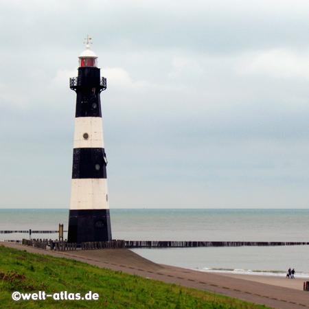 Leuchtturm Nieuwe Sluis in Breskens kurz vor der belgischen Grenze