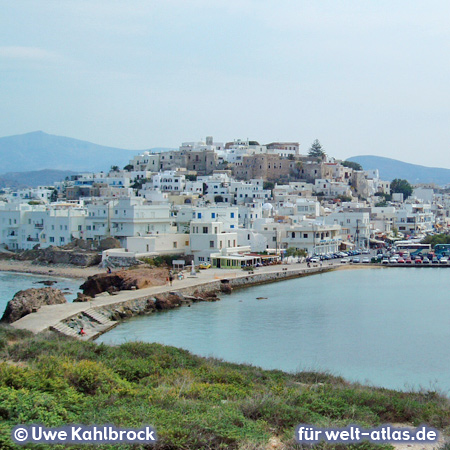 View from the marble gate to Naxos City
