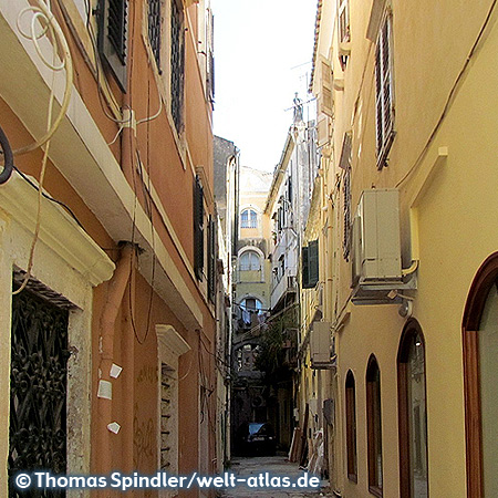 Alley in the Old Town of Corfu