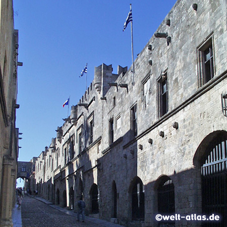 Medieval city, Knights Road in the Old Town of Rhodes